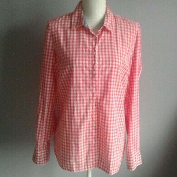 Tommy Hilfiger Tops - Tommy Hilfiger Gingham Roll Tab Shirt